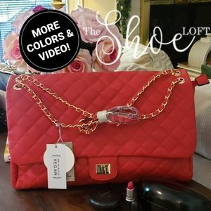 Quilted Flap Bag Travel - LARGE
